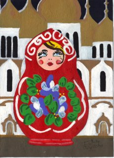 Red Russian Doll - Jane Kelly