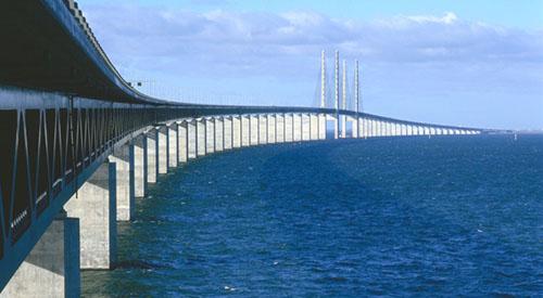 Øresund Bridge between Copenhagen and Malmö